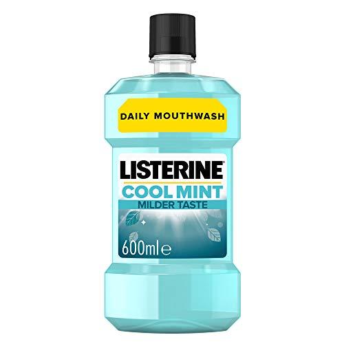 Listerine Cool Mint Milder Taste Mouthwash, 600 ml