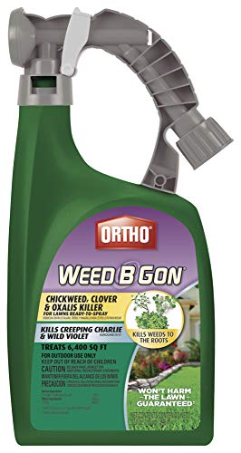 Ortho Weed B Gon Chickweed, Clover & Oxalis Killer for Lawns, 32 Oz.