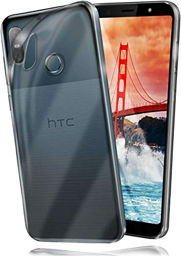 moex Aero Hülle kompatibel mit HTC U12 Life - Hülle aus Silikon, komplett transparent, Klarsicht Handy Schutzhülle Ultra dünn, Handyhülle durchsichtig einfarbig, Klar