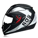 Cascos integrales de moto Casco de moto de doble visor aprobado por el DOT Casco de moto de competición de seguridad Casco todoterreno Cascos modulares abatibles