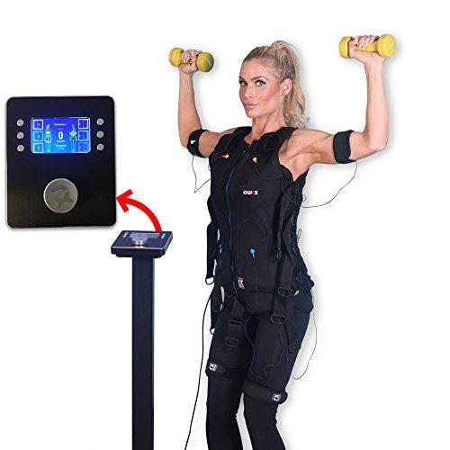 POWRX EMS Trainer I Basis Station inkl. Anzug I EMS Training Muskelaufbau und Körperfettreduktion I Für Mann und Frau (Frau I Rot I S)