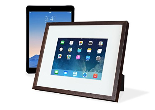 """iFrame (Black) – Turn Your iPad into a Beautiful Interactive Digital Picture Frame – Perfect at Home or Work - Includes Table Stand and Wall Mount for All 9.7"""" iPads"""