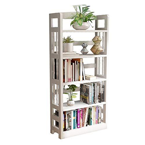 YINUO Combinaison d'étagère en bois massif Combinaisons simples Simple minimaliste moderne étage créatif Étudiants multicouche 5 couches pour enfants Petites bibliothèques All Pine (Color : White)
