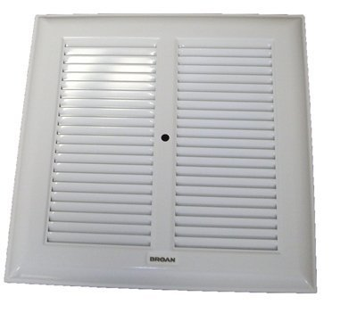Broan White Metal Grille 315, 317, 660, 661, 662, 664, 665, 666, 668, 669 (Replaces 97000650, 980029)