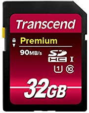 Tarjeta de memoria Transcend TS32GSDU1 SDHC Clase 10 UHS-I (Premium), velocidad de transferencia de 90 MB / s (máx.)
