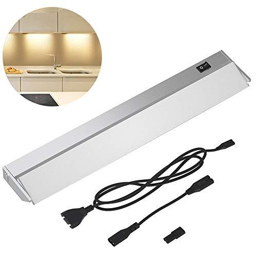 Bakaji Lampada Luce Sottopensile Cucina Lunghezza 60cm Barra 60 LED 10W Bianco Naturale 4000K Alta Luminosità 800LM Faretto Slim Sotto pensile per Mobili in Alluminio con Paralume Orientabile