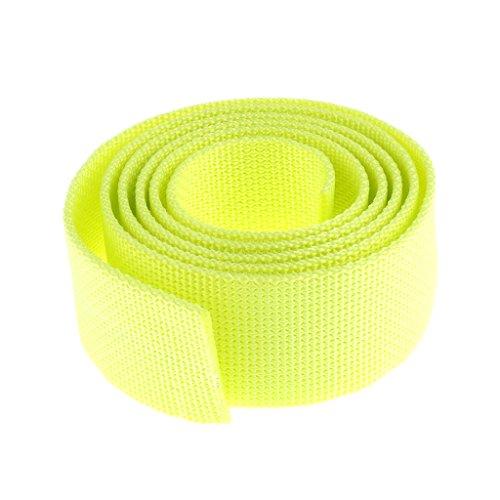 MagiDeal Tauchgewicht Gürtel Bleigurt/Gewichtsgürtel 1,5m zum Tauchen (schöne und auffällige Farben Auswählbar) - Fluoreszenz Gelb