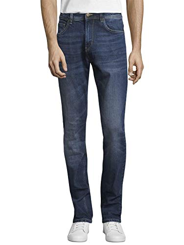 TOM TAILOR Herren Jeanshosen Josh Regular Slim Jeans mid Stone wash Denim,34/32,10281,6000