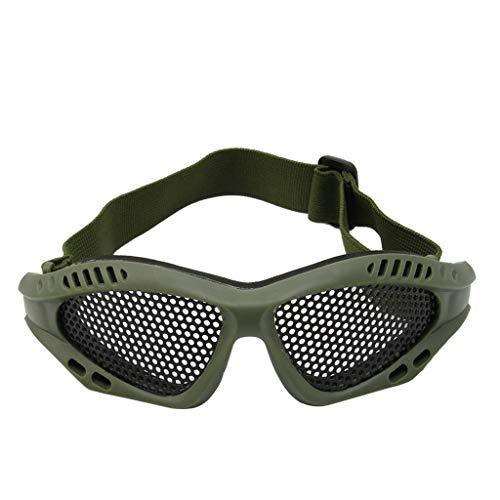 Lergo - Occhiali tattici per moto, Airsoft, protezione degli occhi, anti appannamento, in metallo