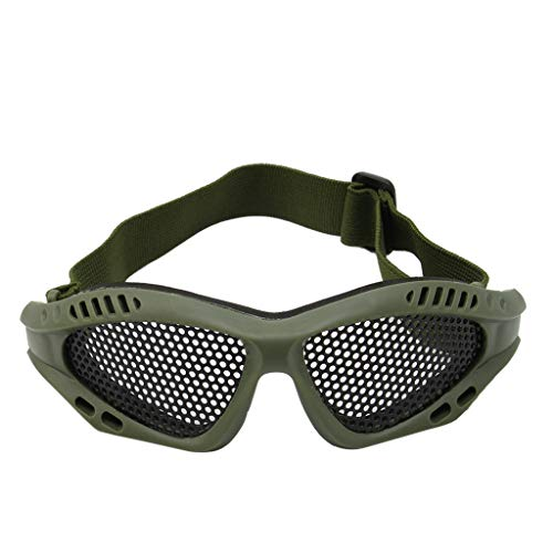 Lergo Tactical Motorrad Airsoft Augenschutzbrille Antibeschlag-Mesh Metall Brille Einheitsgröße armee-grün
