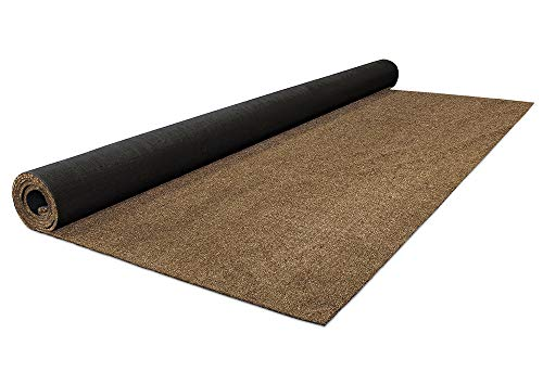 House, Home and More Outdoor Artificial Turf with Marine Backing – Woodland Brown 6 Feet X 10 Feet – Spectrum Series .25 Inch Pile Height