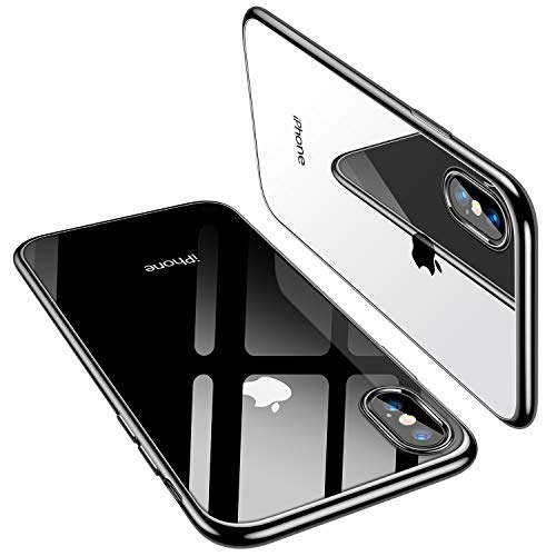 TORRAS iPhone Xs Case/iPhone X Case, Ultra Thin Slim Fit Soft Silicone TPU Cover Case Compatible with iPhone X/iPhone Xs 5.8 inch, Black