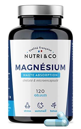 Magnésium Végétal + Vitamine B6 Bio-active | Absorption Supérieure au Bisglycinate & Teneur Égale au Magnésium Marin | Malate & Liposome de Magnesium | 300mg /j 120 Gélules Made in France | Nutri&Co