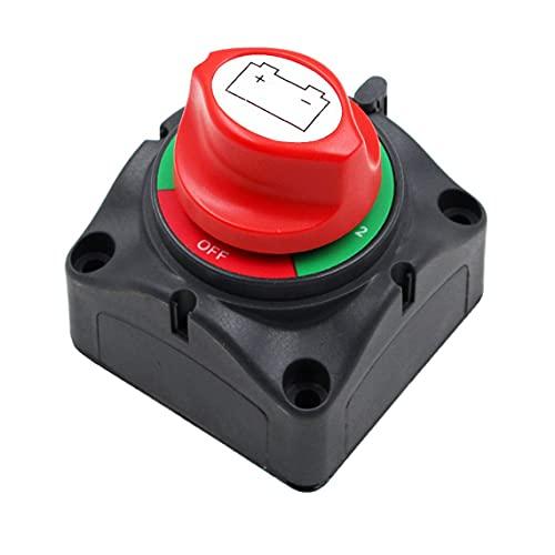 Tree-es-Life 1 Pc Car RV Marine Boat Aislador de batería Desconexión Interruptor rotatorio Corte de Encendido/Apagado Interruptor de alimentación de batería de Gran Corriente Negro y Rojo