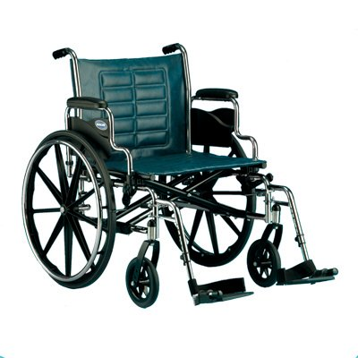 Invacare T422RFA Tracer IV Wheelchair - 22 x 18 Inch with Full Length Arms