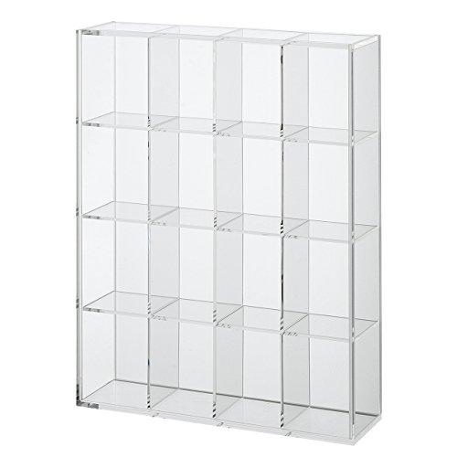 無印良品 後ろが透けないアクリルコレクションボックス・4×4小間 幅27.5×奥行7.2×高さ34.7cm