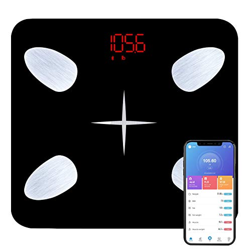 Body Fat Scale, Bathroom Scale and Smart BMI Scale, Highly Accurate Digital Wireless Weight Scale