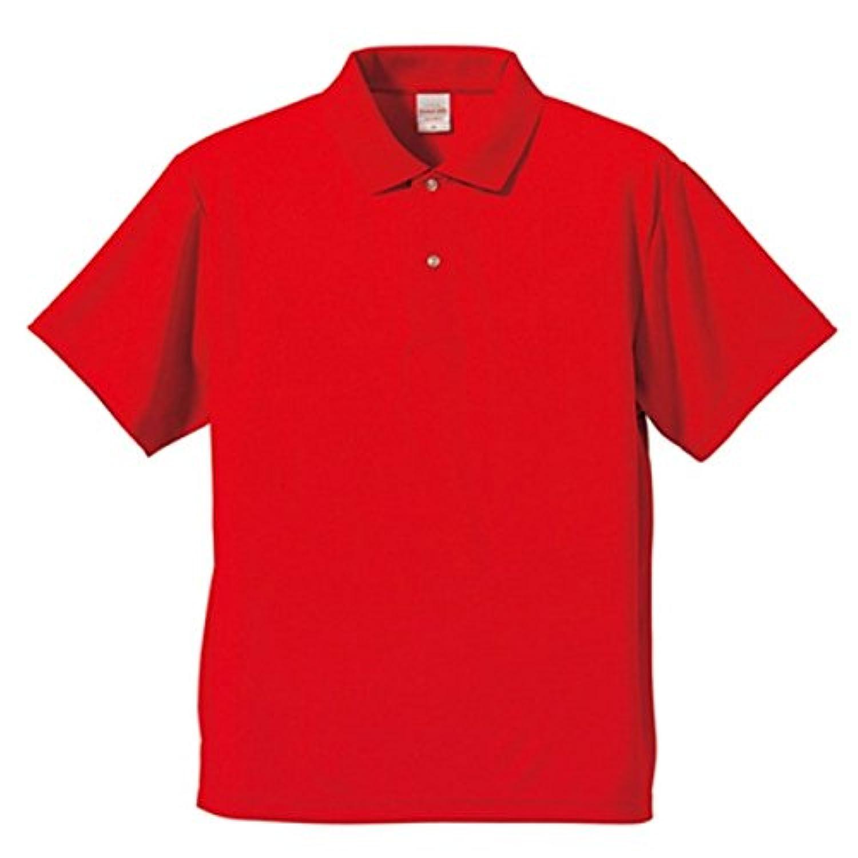 UVカット 吸汗速乾 同色5枚セット 3.8オンスさらさらドライポロシャツ レッド L ファッション トップス ポロシャツ その他のポロシャツ 14067381 [並行輸入品]
