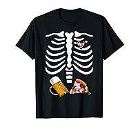 Halloween Skeleton Top - Le costume du Squelette de Pizza et Bière est pour vous et votre équipe de buveurs. Pour le costume d'Halloween pour les hommes et les femmes qui cherchent une tenue d'Halloween amusante . Pour les amateurs de pizza et de biè...