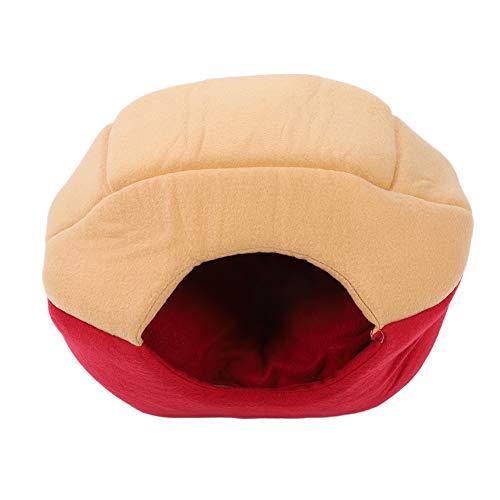 Casa para Gatos, Adecuada para la Mayoría de los Perros Aspecto Lindo Cueva para Dormir para Mascotas Tela Duradera Plegable para Usar como Alfombrilla para Colchoneta Plegable para Perrera(M rojo)