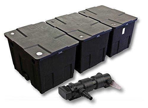 SunSun 3-Kammer Filter Set für 90000l Teich mit 18W UVC 6er Teichklärer