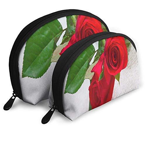 Bolsa de Maquillaje Natural Rose Bolsa de Concha portátil para Novia Paquete...