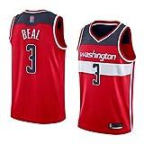 LYY Jerseys De Baloncesto para Hombre, NBA Washington Wizards # 3 Bradley Beal - Chaleco Clásico Tops Comfort Transpirable Deporte Sin Mangas Camiseta Uniformes,Rojo,S(165~170CM)