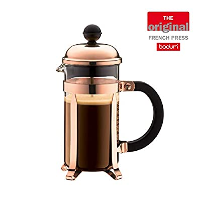 BODUM Chambord Cafetiere 3 Cup French Press Coffee Maker, Copper, 0.35 l, 12 oz