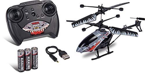 Carson Nano Tyrann Shark 200 2.4G RTF, Hubschrauber, Ferngesteuerter Modell, RC Helikopter, inkl. Batterien und Fernsteuerung, 100% flugfertig, einfach zu fliegen, 500507143
