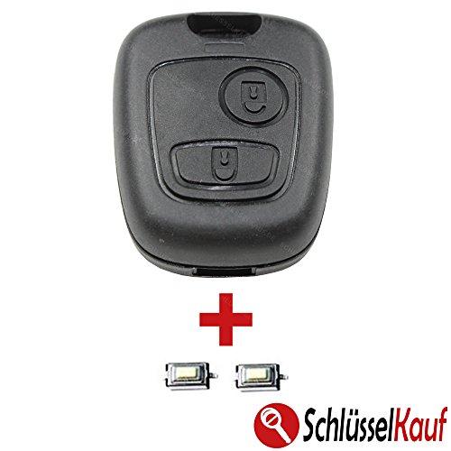 Peugeot Autoschlüssel Gehäuse 106 107 206 207 306 307 Boxer EXPERT + 2X Taster Mikrotaster Neu