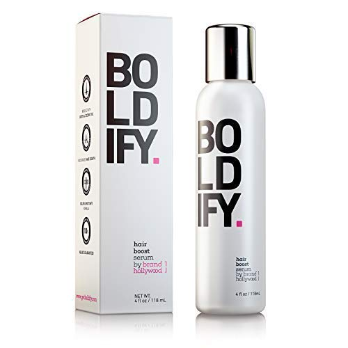 BOLDIFY 3X Biotin Hair Growth Serum - Get Thicker Hair Day One - Natural 3-in-1 Hair Regrowth Serum,...