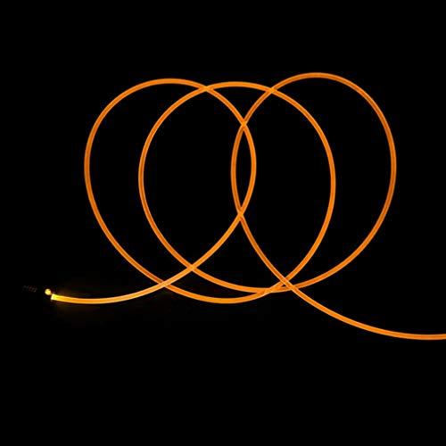 Uonlytech luces de fibra óptica cable de fibra óptica led multicolor para...
