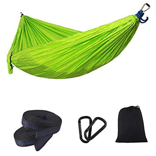 shiftX4 Hamaca de camping al aire libre para jardín, doble camping, ligera, portátil, hamaca de nailon, ideal para acampar al aire libre, jardines y viajes Swing plegable Set cosas Fitness