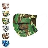 chushin (1パック) 迷彩柄 マスク 個包装 マスク サージカルマスク 使い捨て 三層構造不織布 国産 男女兼用 レギュラー 10枚入り 175mm グレー [並行輸入品]