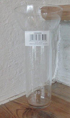 Ersatzglas für Regenmesser 8x8x17 cm weiße Skala