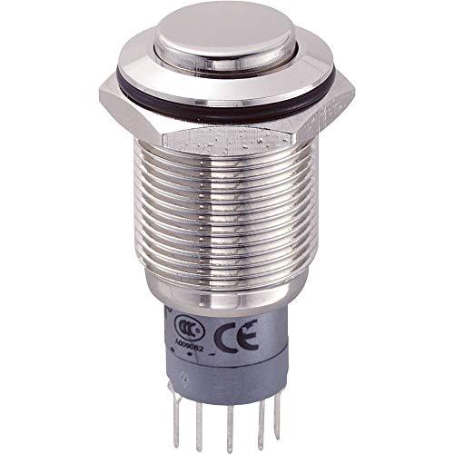 TRU COMPONENTS LAS2GQH-11Z/N/P 701981 - Interruptor antivandalismo (250 V/AC, 3 A, 1 x On/On/On) para colgar, 1 unidad