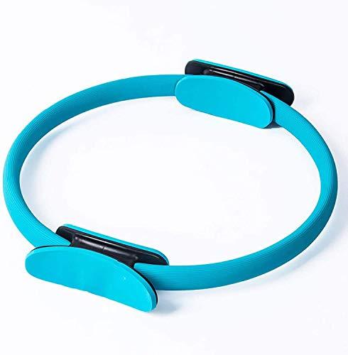 Mnjin Equipo portátil para Perder Peso en el hogar Ejercicio Fitness Ring El Mango Doble Pilates Ring Puede Quemar Grasa para ejercitar los músculos del Muslo, el Pecho o la Parte Superior del Bra
