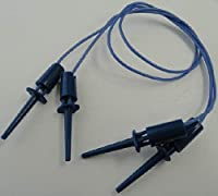 ICクリップ・テストクリップ 全長44mm 青 フックタイプ 線長30cm 2個入<1zi-038>