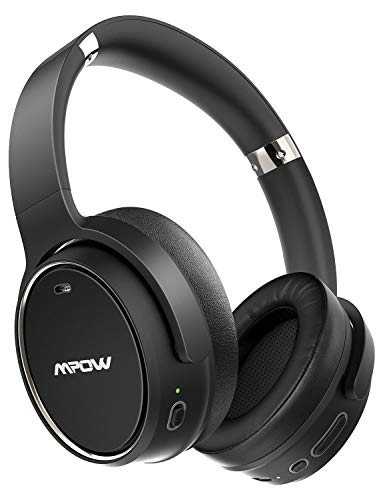 Mpow H19 Hybrid Noise Cancelling Headphones, [Upgraded] Bluetooth 5.0 Wireless Headphones, 45H Playtime, Deep Bass, CVC 8.0 Microphone, Wired/Wireless Headphones for Online Class, Home Office