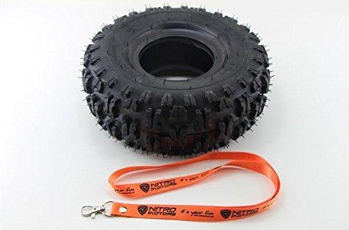 Nitro Motors Reifen für Quads 4.10-4 Tyre X Profil Pocket Dirt Bike Quad + Gratis Schlüsselanhänger Lanyard
