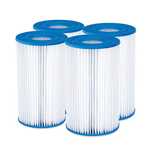 Summer Waves P57100204 Replacement Type A/C Swimming Pool and Hot Tub Spa Cartridge with Heavy Duty Ultimate Filtration Paper, 4 Pack