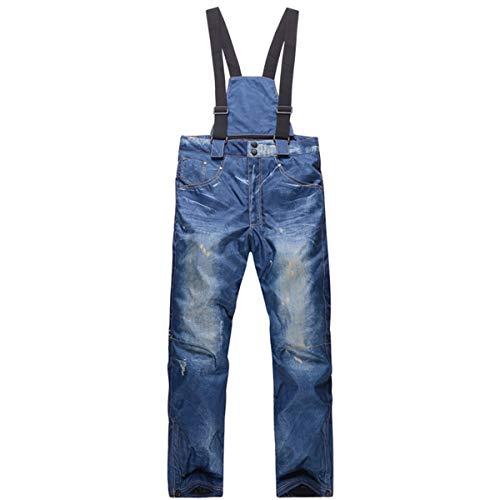 GoodLuckShop Pantalones de Mezclilla Pantalones Vaqueros para Esquiar Impermeables, Transpirables, esquí cálido, Snowboard, Pantalones para Ciclismo de montaña para Hombres y Mujeres