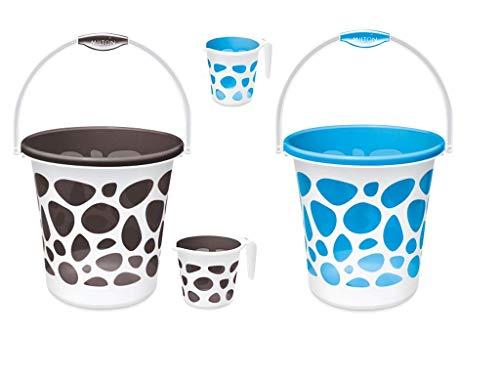 43 Off On Milton Homeshop52 Com Duplex 6 Pcs Bathroom Set 20 L Plastic Bucket Green On Flipkart Paisawapas Com