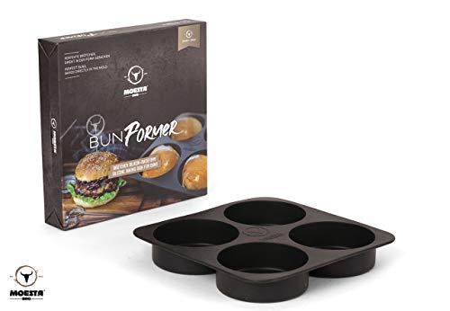 MOESTA-BBQ 19297 BunFormer - Silikon-Backform, Burger Brötchen selber backen