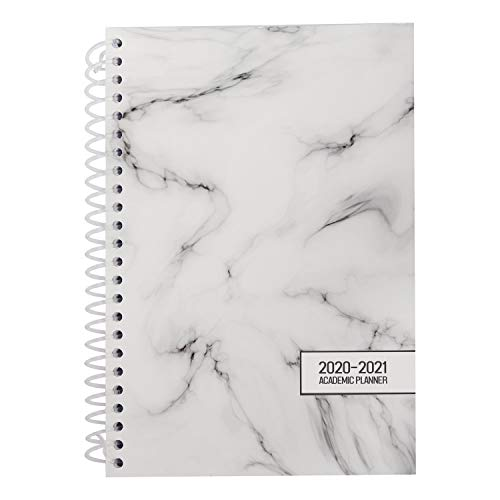 Belle Vous English Academic Diary 2020-2021 - A5 Academic Mid Year Planner July to July 110 GSM - Spiral Diary for Daily and Weekly Agenda, Personal Work List, Meetings, Appointments, Office, School