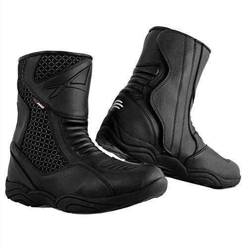 Niedrige Stiefel Motorradstiefel Wasserdicht Schuhe Sport Low Boots Schwarz 41