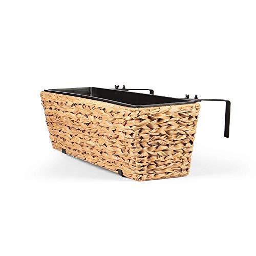 Vanage Kunststoff Pflanzkübel in braun - Blumenkübel für drinnen und draußen - Blumentopf für Blumen und Pflanzen - Pflanzenkübel perfekt für Garten, Terrasse und Balkon geeignet