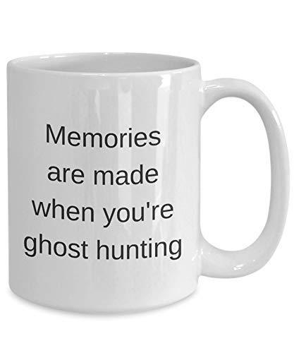 N\A Regalo para un Cazador de Fantasmas Taza para Regalo Cazador de Regalos Regalos de Caza Tazas para Regalo Caza Taza de café para Cazadores de Regalos Caza de Fantasmas