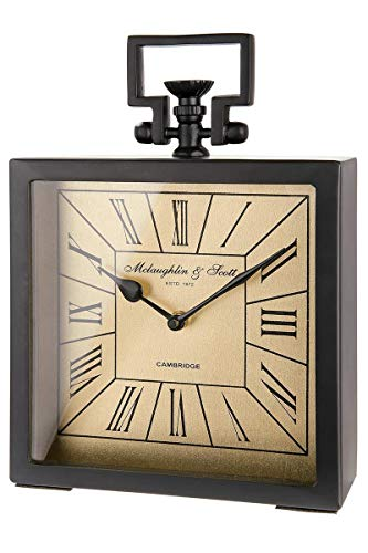 GILDE Reloj cuadrado Nero Mate Negro H = 29,0 cm 41361