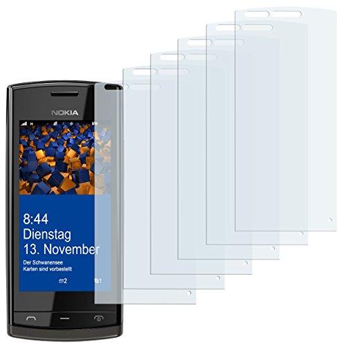 mumbi Schutzfolie kompatibel mit Nokia 500 Folie klar, Bildschirmschutzfolie (6X)
